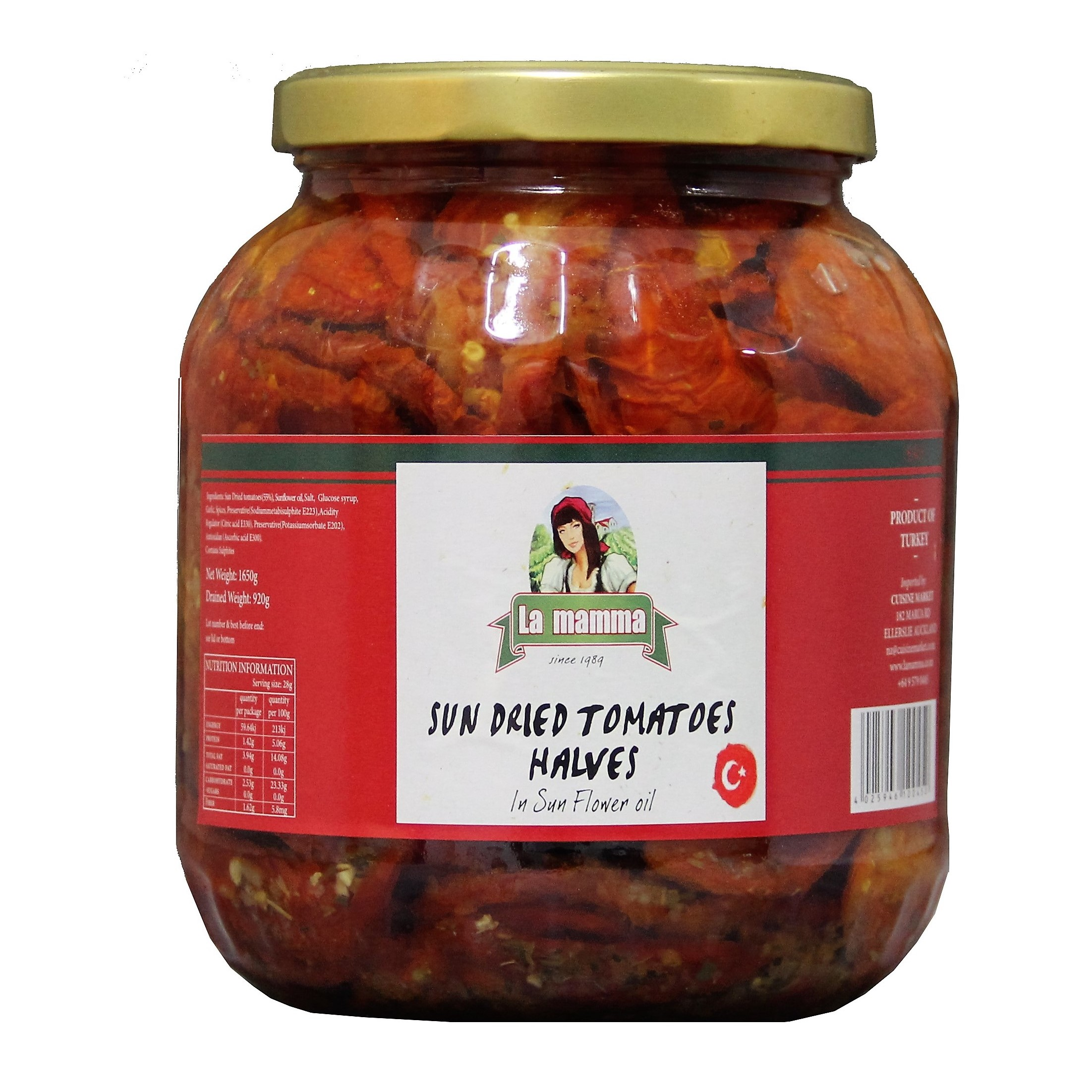 224 sun dried tomatoes in oil 1.7kg